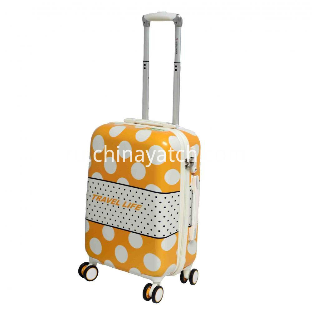 Cute Color PC Luggage Set with Aluminum Tube and 8 Wheels