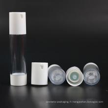 Bouteille Airless Plastique Cosmétique 15ml 30ml 50ml (NAB28)