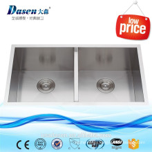Twin bowl CUPC certificate SUS 304 custom made stainless steel 32 x 18 inch 16 gauge used kitchen sinks 50/50 undermount