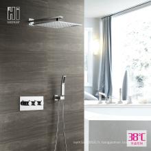 HIDEEP Ensemble robinet de douche thermostatique à deux fonctions en laiton
