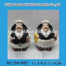 2016 Горячий продаваемый настенный керамический фляга в форме шеф-повара для приправы