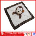 stuffed doudou baby comforting blanket with animal head