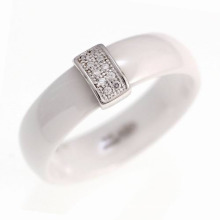 925 Sterling Silver Ceramic Ring Jewelry (R20003)