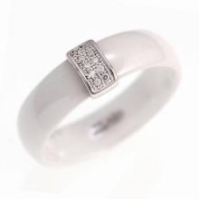 925 prata esterlina jóias cerâmica anel (R20003)