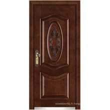 portes en acier finition bois blindée porte/Armored portes de bois
