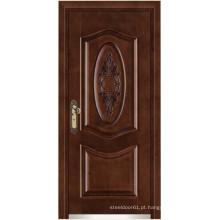portas de aço madeira revestimento blindado blindados/porta portas de madeira