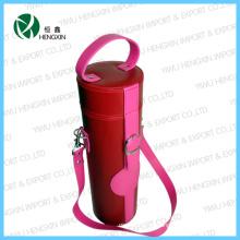 PU portátil de couro caso de vinho (HX-G089)