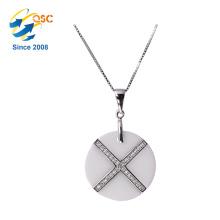 Moda diferentes tipos de cadenas de plata collar simple diseños collar