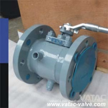 Lever Operation RF Flg Cast Steel Soft Sealing Jacketed Plug Valve