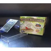 Alimentador para pájaros con ventana de prueba de ardilla