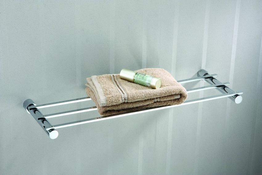 Single layer brass shower rack