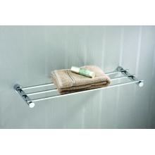 Fashion brass fixed single layer bath towel rack