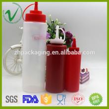 Botellas de cuentagotas vacías de ketchup vacío de diferentes tamaños de grado alimenticio al por mayor