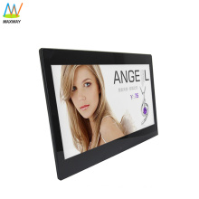 Slim LCD 13 inch digital photo frame with loop video, picture, music, MP3, MP4
