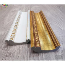 Waterproof white and gold PS interior decor ceiling moulding