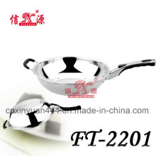 Stainless Steel Single Hanger Frying Pan (FT-2201)