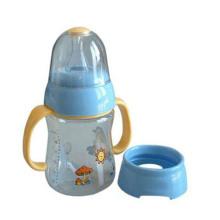 Diámetro amplio para facilitar la limpieza y el llenado de la botella de plástico para bebés