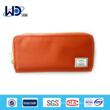 Solid color canvas wallet