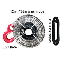 12mm 28m  Winch Rope With Hook Fairlead