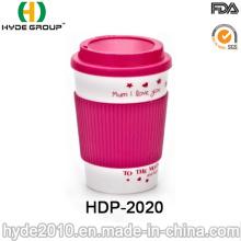 Vende al por mayor la taza de café plástica práctica de la doble pared (HDP-2020)