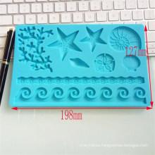 DIY Baking Mold Direct Sales Lovely Animal Beach Conch Cake Mold DIY Baking Tools Fondant Silicone Mold