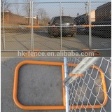2016 lowest price!High quality 1.8X2.4m America style 6 ft used temporary construction chain link fence design produce & export