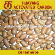 2-4mm Natural Ceramsite / Ceramsite Sand para agricultura e tratamento de água