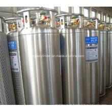DOT Standard 175L Vertikal geschweißte Isolierte Dewar Flasche Kryogene Lox Lin Lar Lco2 Gas Zylinder