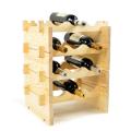 nueva botella de vino de una sola botella de madera