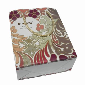 Printed Color Paper Shopping Bag for Packing