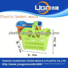 Molde de la cesta de la inyección del molde de la cesta de la comida campestre del plástico en taizhou zhejiang China