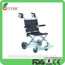 Pliant léger fauteuil roulant en aluminium pour les voyages en plein air