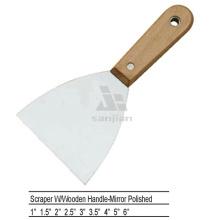 Sjsl38 Poêle en bois poli en acier au carbone poignée Couteau