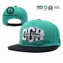 Gorra de baloncesto verde menta de la nueva moda 2016 con el bordado 3D