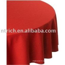 Nappe, couverture de table Hotel/Banquet, 100 % polyester linge de table