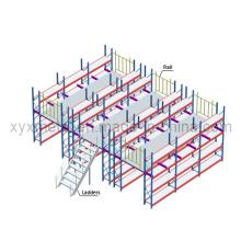 Warehouse Multi-Layer Metal Platform Storage Mezzanine Racks