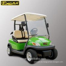 EXCAR 2 plazas carrito de golf eléctrico barato para la venta coche de golf club de China coche