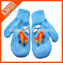 Winter custom acrylic knit double layer gloves
