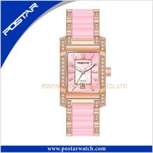 Elegant Design Luxurious Ceramic Quartz Watch for Ladies
