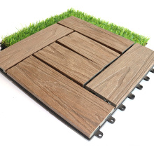 Quick Deck Co-Extrusion Marine Deck Tile 11.8 in Easy Installation Anti-Slip Composite Wood Pool Durable Outdise Deck Tiles WPC