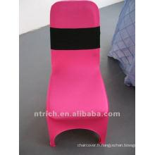 couverture de chaise de spandex fuchsia, CTS749, adapté pour toutes les chaises. La présidence de la couverture de l'usine.