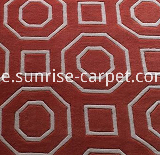 hand tufted carpet with design 2