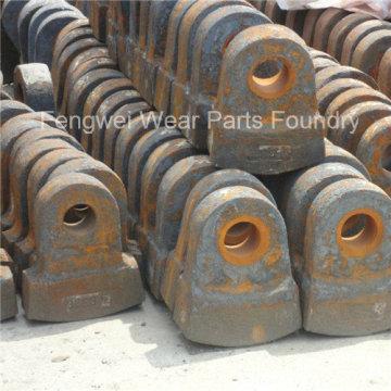 High Manganese Casting Crusher Parts Hammer for Hammer Crusher