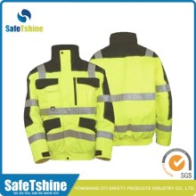 High visibility work reflective safety jacket