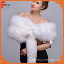 Shadow fox fur cape