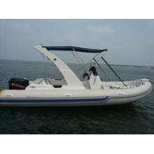 Verkauft gut perfektes weißes Fiberglas-aufblasbares Rippen-Boot mit CER