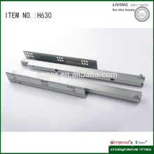 hidden three section clip on drawer slide with bolt