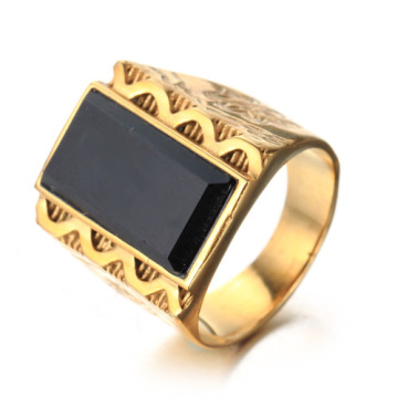 Reka bentuk fesyen Gold Plated Men geometric Rings