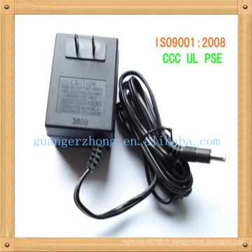 JET de 7.5v 180mA, adaptateur de courant alternatif de PSE