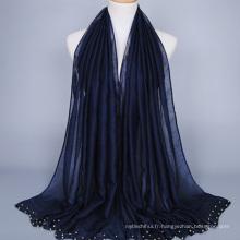 Meilleure qualité promotionnel design personnalisé pas cher 100% polyester musulman femmes hijab